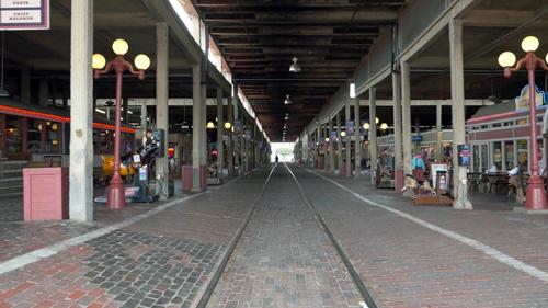 ストックヤードの旧鉄道駅